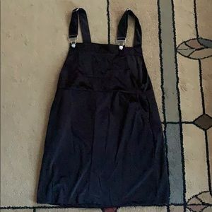 Pocket front overall dress